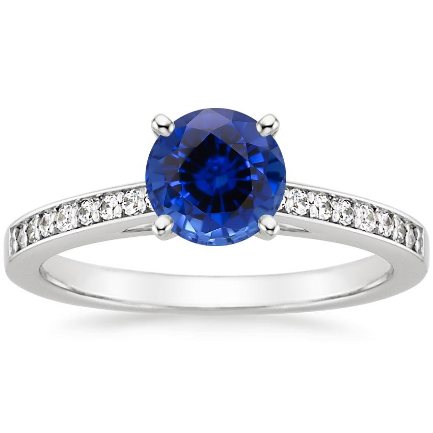 Sapphire Starlight Diamond Ring in Platinum