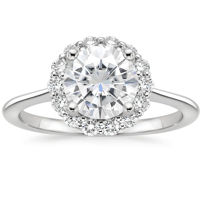 Moissanite Calla Diamond Ring (1/3 ct. tw.) in 18K White Gold