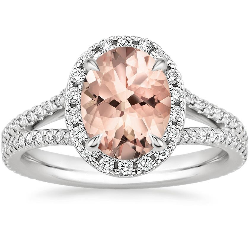 Morganite Fortuna Diamond Ring (1/2 ct. tw.) in 18K White Gold