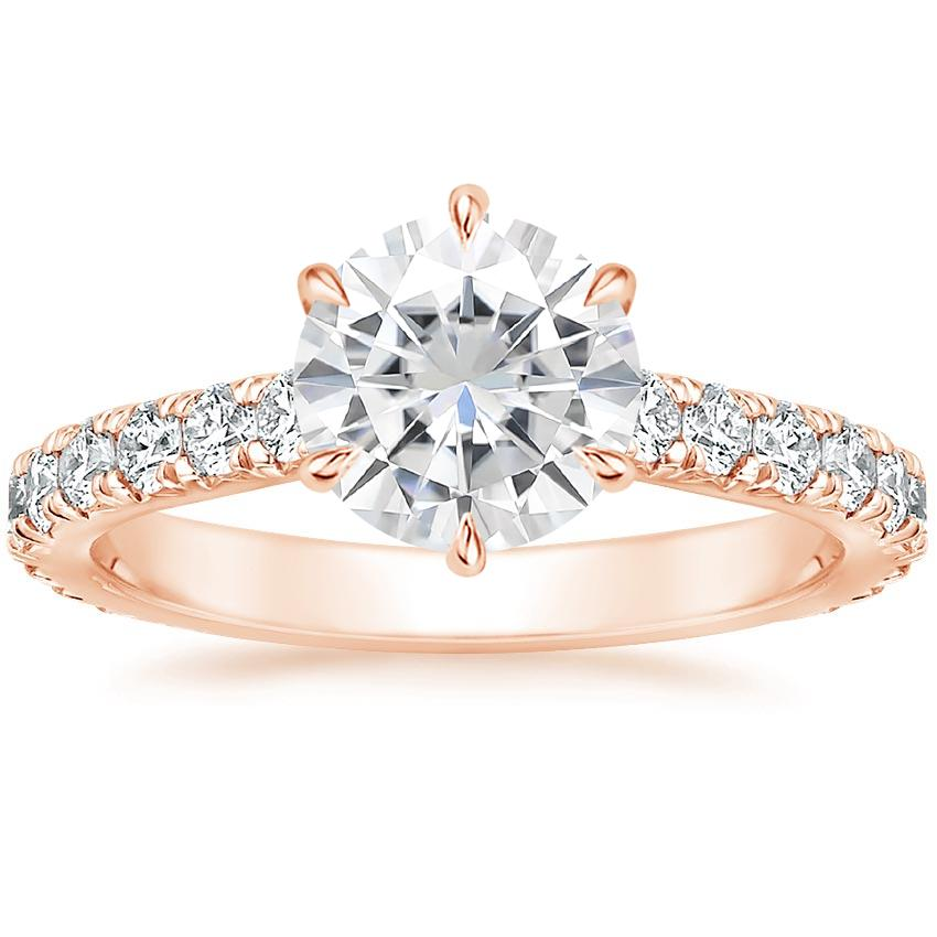 Rose Gold Moissanite Luxe Sienna Diamond Ring (1/2 ct. tw.)