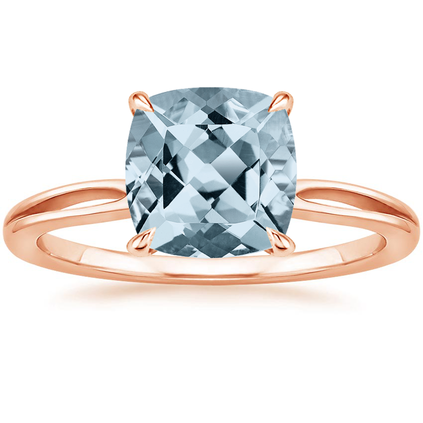 Rose Gold Aquamarine Kalina Ring