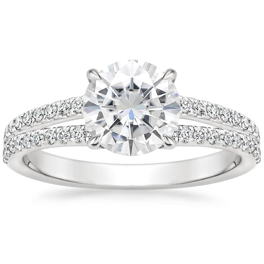 Moissanite Mirra Diamond Ring (1/4 ct. tw.) in 18K White Gold