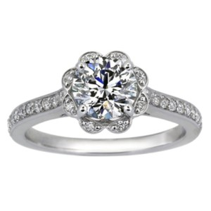 Pave Flower Ring, top view