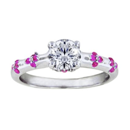 Custom Pink Sapphire and Diamond Blossom Ring