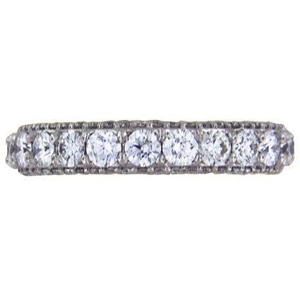 Luxe Three Side Pave Band, top view