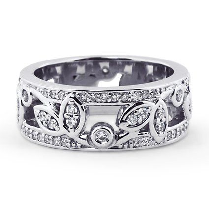 Custom Diamond Vine Band