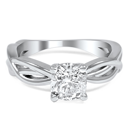 Custom Dynamic Twist Solitaire Ring