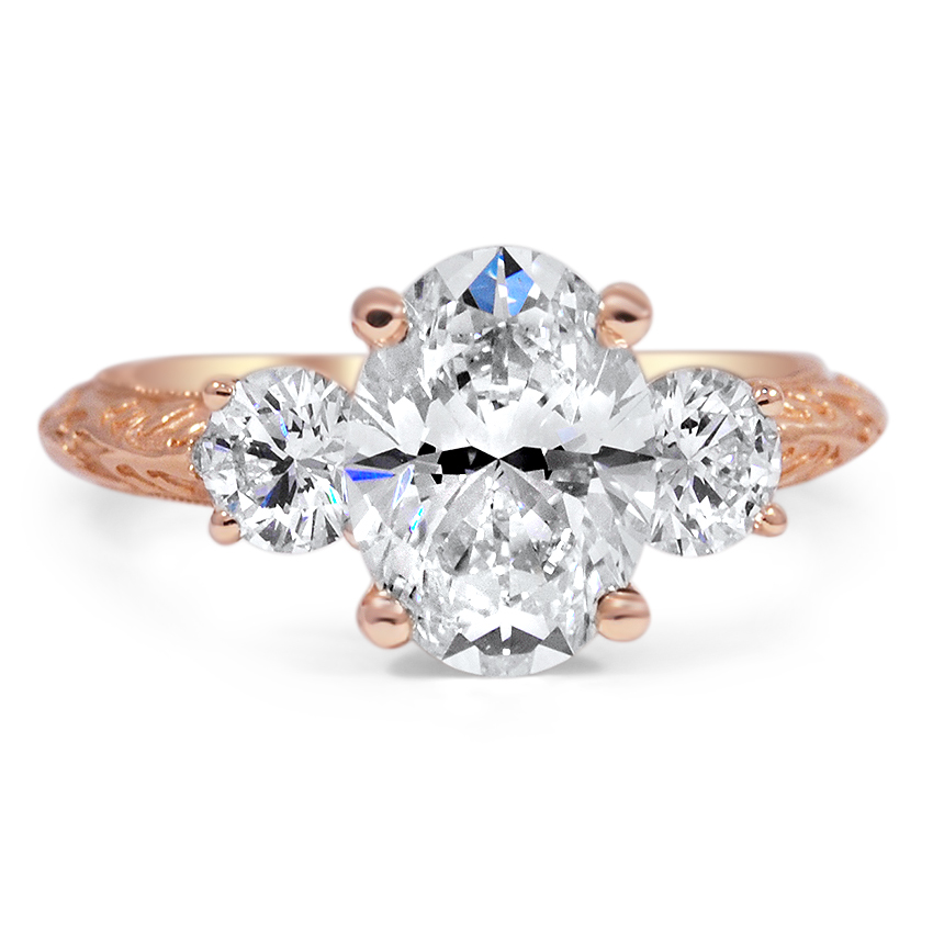 Top Twenty Custom Rings - SURPRISE GALLERY THREE STONE RING