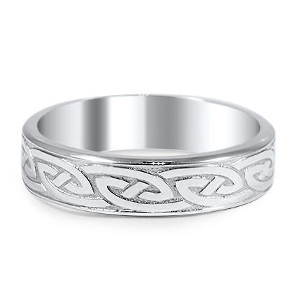 Custom Modern Celtic Eternity Ring
