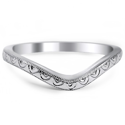 Custom Contoured Hand Engraved Ring