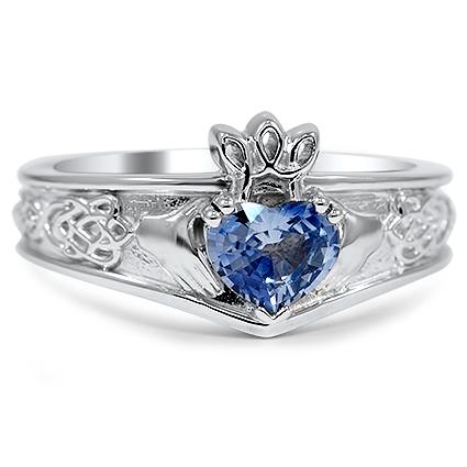 Custom Celtic Inspired Claddagh Ring Brilliant Earth