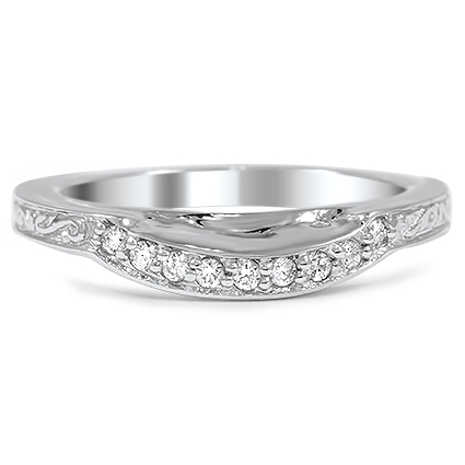 Custom Antique Inspired Contoured Wedding Ring