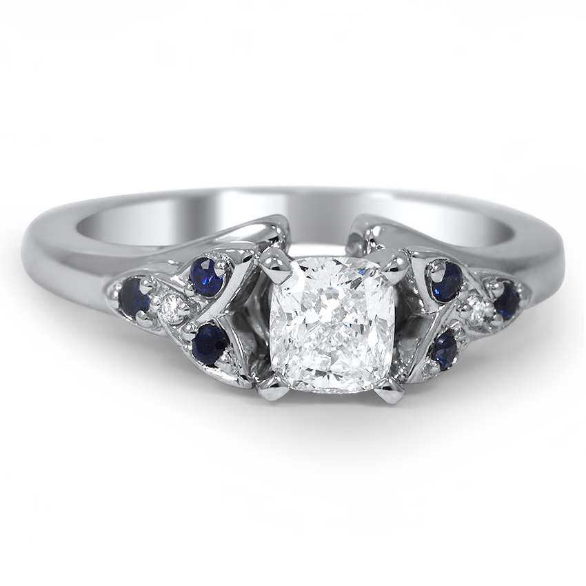 custom sapphire and diamond celtic love knot ring. Black Bedroom Furniture Sets. Home Design Ideas