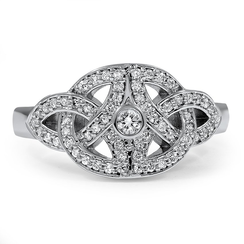 Custom Celtic Knot Diamond Ring