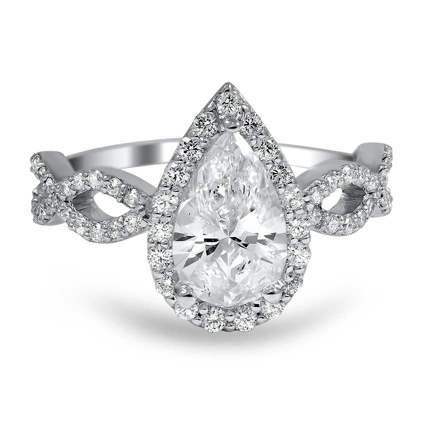 custom infinity pear diamond ring brilliant earth