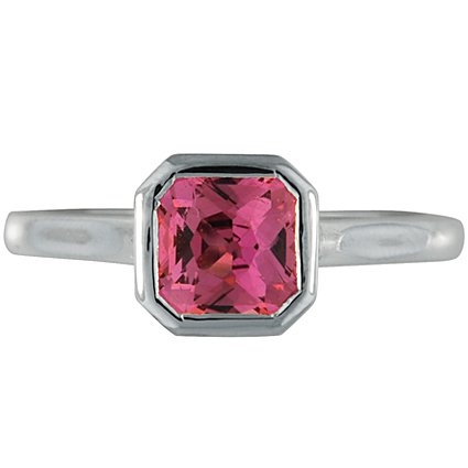 Radiant Pink Sapphire Luna, top view
