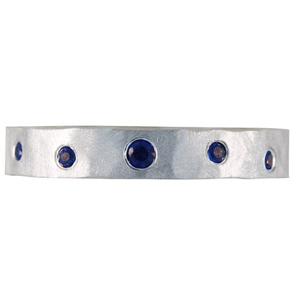 Organically Placed Sapphire Ring, top view