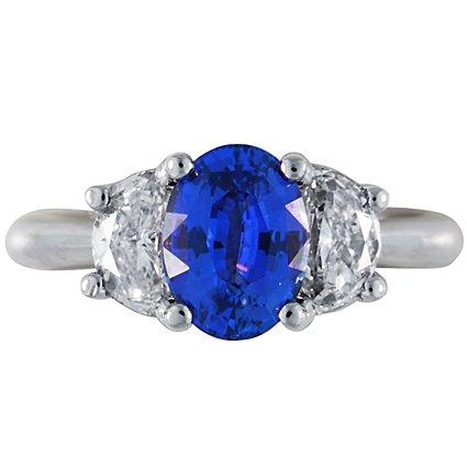 Custom Three Stone Sapphire Ring With Surprise Diamonds Brilliant Earth