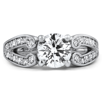 Custom Split Shank Pave Diamond Ring