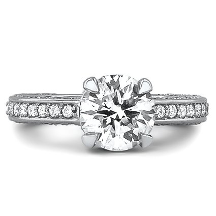 Custom Pavé Diamond Ring with Accents