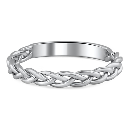 Braided Wedding Ring, top view