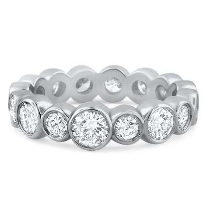 Bezel Set Eternity Band, top view