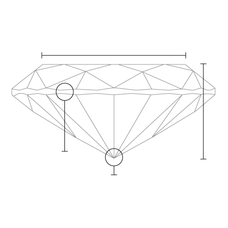 1.02 Carat Oval Diamond side view with measurements