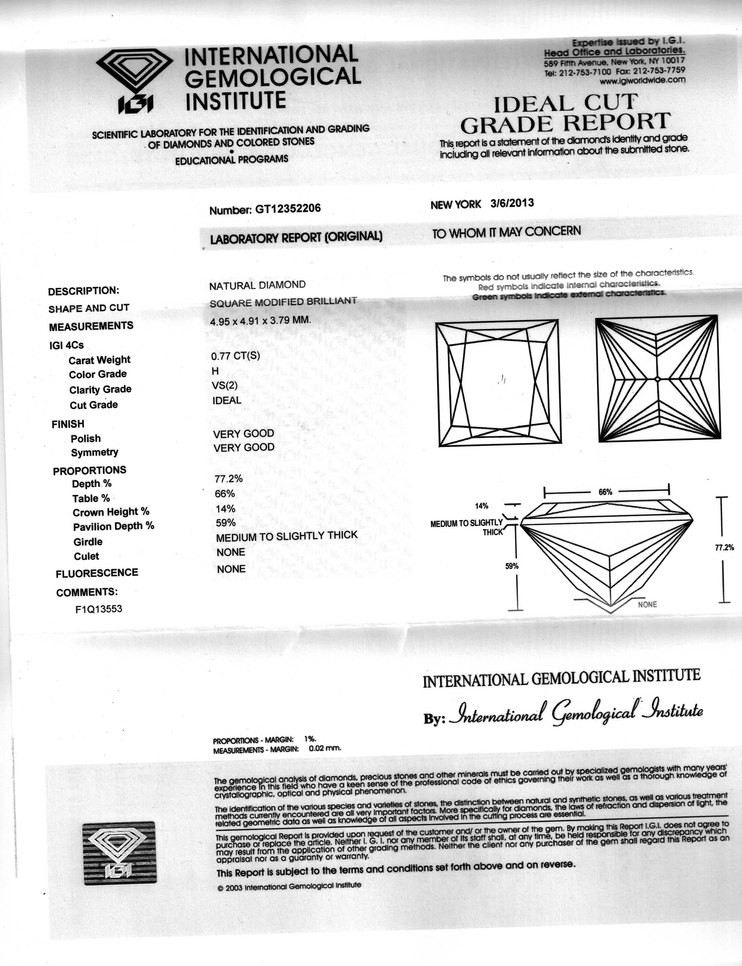 how diamonds read facet a report to carat diamond radiant certificate grading brown p