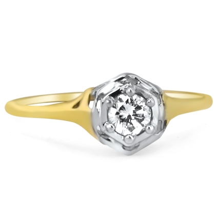 14K Yellow Gold The Amalfi Ring, large top view