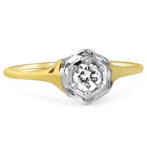14K Yellow Gold The Amalfi Ring, top view