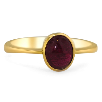 18K Yellow Gold The Anjala Ring, large top view
