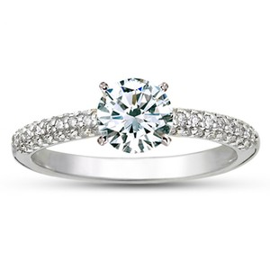 18K White Gold Allegra Diamond Ring, top view
