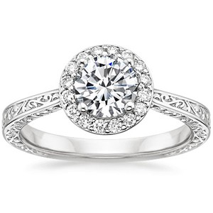 Platinum Contessa Ring, top view