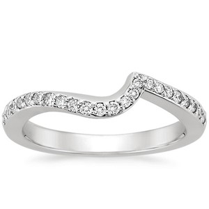 Platinum Seacrest Ring with Diamond Accents, top view