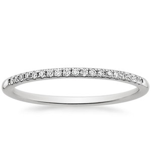 Platinum Whisper Diamond Ring, top view
