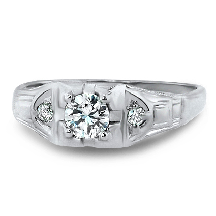 14K White Gold The Cara Ring, large top view