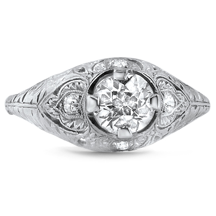 Platinum The Carmel Ring, large top view