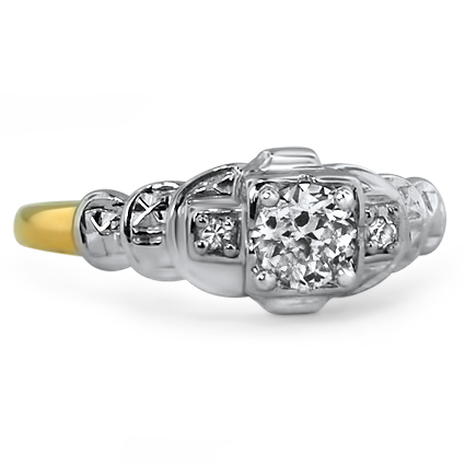 Platinum The d'Orsay Ring, large top view