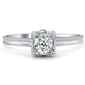 18K White Gold The Danielle Ring, top view