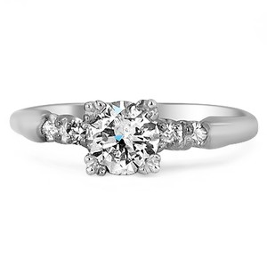 Platinum The Elia Ring, top view