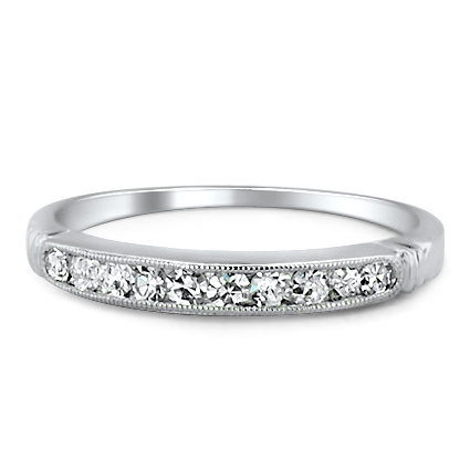 Platinum The Ellen Ring, large top view