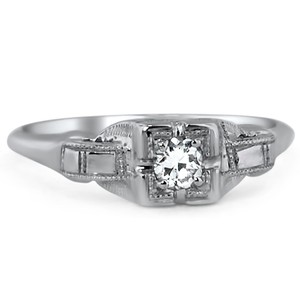 18K White Gold The Erika Ring, top view