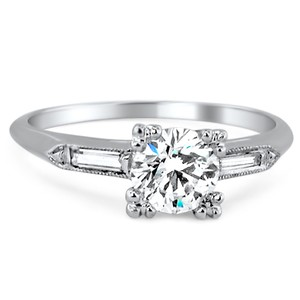 Platinum The Geraldine Ring, top view