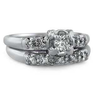 14K White Gold The Josette Matched Set, top view
