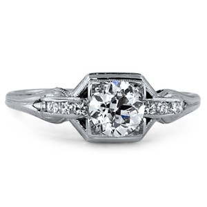 18K White Gold The Kimberley Ring, top view