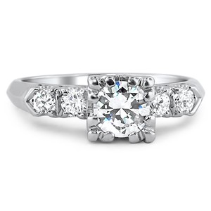 Platinum The Lorrie Ring, top view