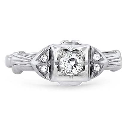 14K White Gold The Madison Ring, large top view