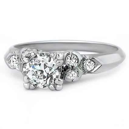 Platinum The Roxanna Ring, large top view