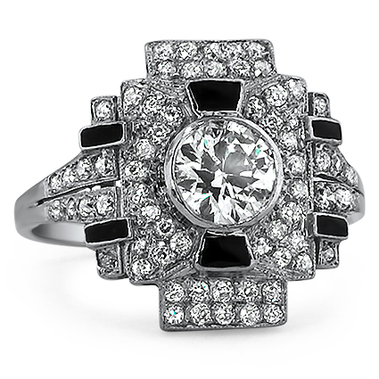 Platinum The Rubicon Ring, large top view