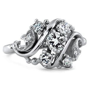 18K White Gold The Rylie Ring, top view
